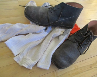 Vintage handmade combat boots reenactor gift handsewn authentic style large size China Galore Military mancave