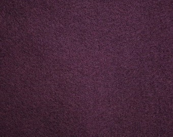 "Plum Felt Fabric 72"" Wide Per Yard"