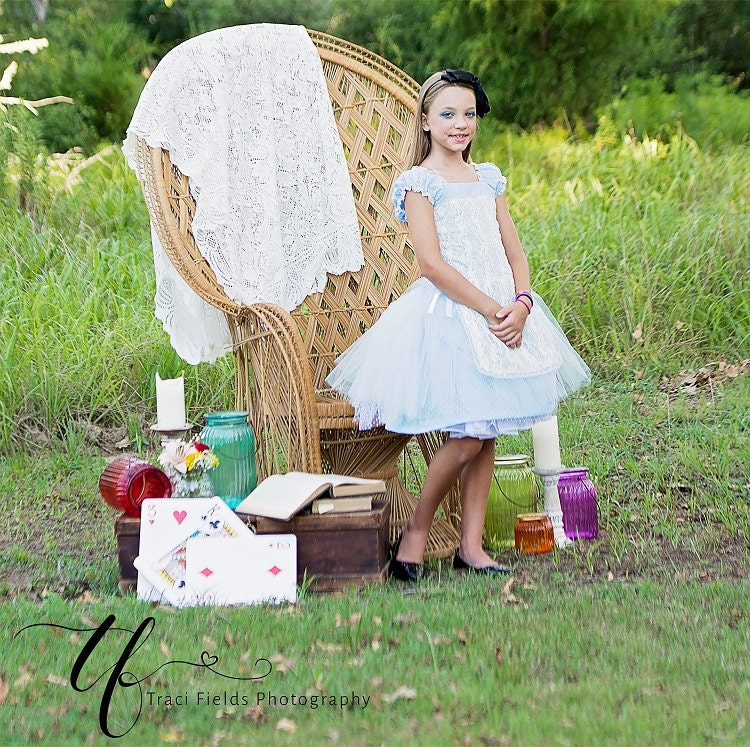 Vintage Style Alice In Wonderland Dress for Baby Girl Toddler