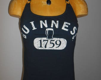 Guinness halter top Reconstructed Bartender Beer Irish DIY