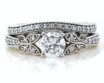 Butterfly Kisses Diamond Wedding Band