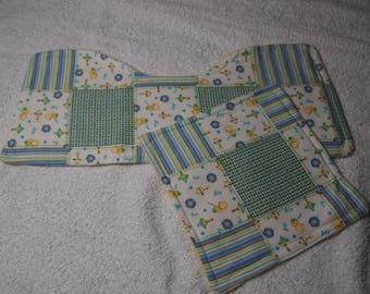 Handmade 2 Piece Baby Burp Cloth/Wash Cloth Set, Baby Boy, Baby Girl, Baby Shower Gift, Baby Ducks