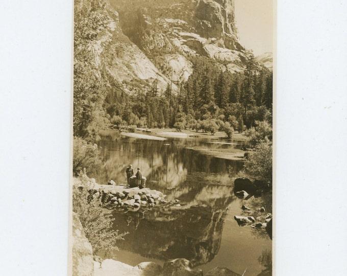 Mirror Lake, Yosemite, 1954: Vintage Snapshot Photo (71540)