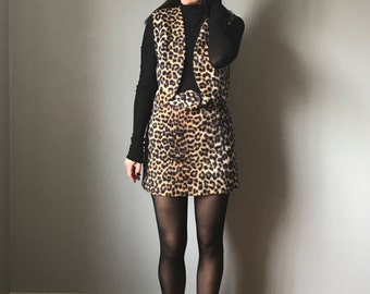 Vintage 60s Mod Leopard GoGo Outfit
