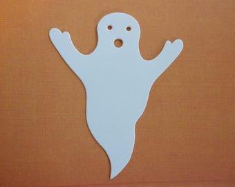 50 Ghost Halloween Decor Die Cut Paper Shape Tags Scrapbook Card Banner Craft Kit DIY Supply Lot