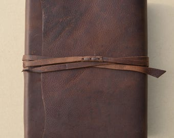 Leather Journal Bible NIV, KJV, NLT (or any Version) New Custom Order (629C)