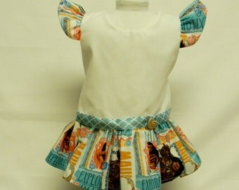 Oceania Themed Sun Dress For 18 Inch Doll Like The American Girl