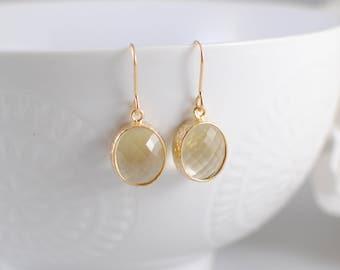 The Rosie Earrings - Lemon