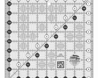 Creative Grids Quilt Ruler 9-1/2 x 9-1/2 inch Square, # CGR9