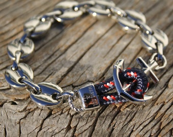 Anchor chain bracelet - Nautical bracelet - Nantucket in stainless steel - Waterproof