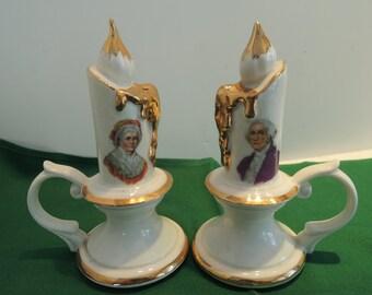 Salt n Pepper, George n Martha, Souvenirs from Mt Vernon, Excellent condition, Vintage