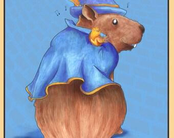 Niles, Gentleman Capybara - 8x10 *OR* 11x14 Print