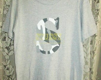 Vintage STUSSY Skateboards 1990s T-shirt Original Made In USA