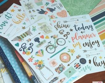 Planner Stickers    Scrapbooking    Clip Art Stickers    Inspirational Stickers    Carpe Diem (Designer Stickers)