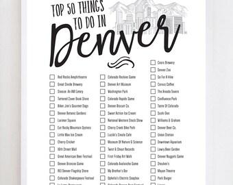 Denver Bucket List 2.0 | Colorado | Wall Art Print Design
