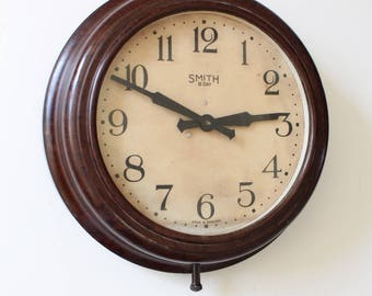 Vintage Bakelite Wall Clock by Smith England c1920s