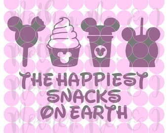 The Happiest Snacks on Earth SVG DXF PNG Cut File Instant Download Cricut and Silhouette Design for Shirts, Scrapbooks Disney