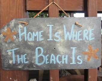 Beach Slate Sign