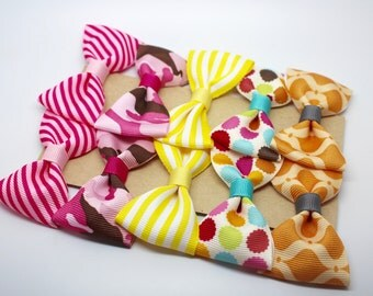 BUY 2 PACKS GET 1 Free - Pack 2 Assorted Hairbows - hair clips - party favors - baby shower - assorted bows