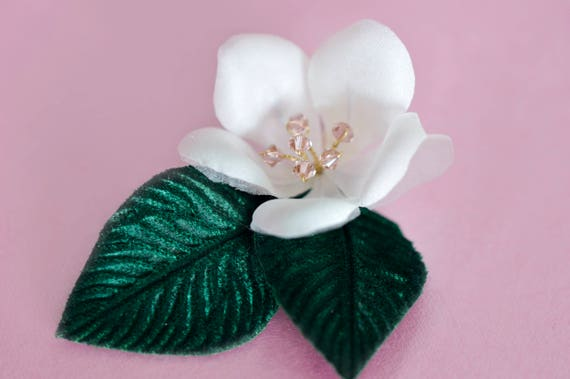 Cherry Blossom - Hair Comb - Hair Flowers - Silk Flowers - Crystal Flowers - Vintage style Hair Accessories - Pin Up Hair Flowers