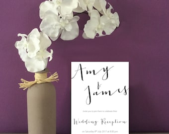 Script Wedding Reception Invitation