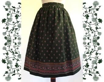 1979's Vintage  Dirndl Skirt