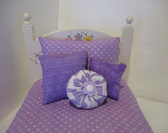 American Girl Doll Bedding in Purple