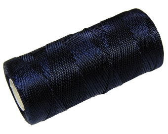15 Meters Macrame Cord - Nylon Thread - Crochet Cord - Beading String Not Waxed - Navy Blue