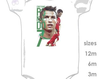 Cristiano Ronaldo - Sports Onesie - Portugal - Super cute onesie for your football and soccer fan - GOAL!!!