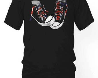 Union Jack Hi Top Tee Sneakers | British Flag T-shirt