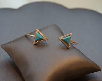 Silver Mykonos Turquoise Stone Cuff