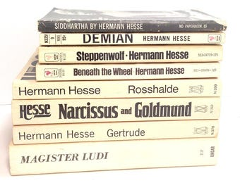 Herman Hesse Collection, Vintage Books, Steppenwolf, Demian, Siddhartha