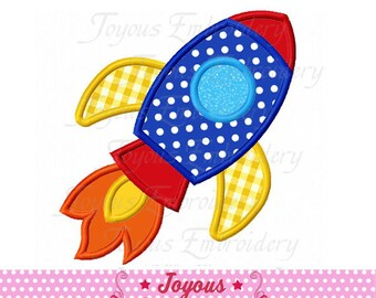 Instant Download Rocket Applique Machine Embroidery Design NO:2316