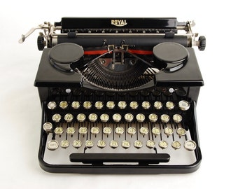 Typewriter, Royal Standard Portable black 1930s