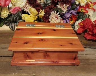 Handmade Cedar Keepsake Chest