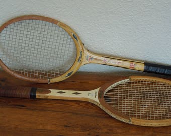 Vintage Wood Tennis Racquets Lot of 2 Wilson Jack Kramer