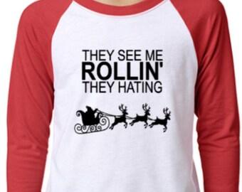 Christmas Raglan T-Shirt All Sizes!