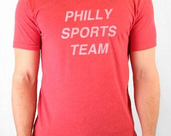 FREE SHIPPING - UNISEX - Ironic Philly Sports Team Tee -- Paul Carpenter Art -- Unisex Tee Shirt