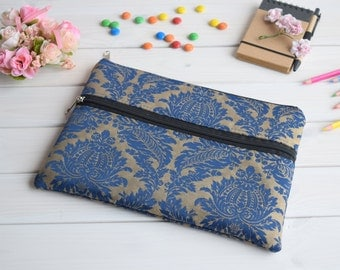 Blue iPad sleeve zipped, iPad Air sleeve, iPad Air case, iPad Air 2 sleeve, iPad Air 2 cover, iPad case, ipad mini sleeve, iPad Pro case