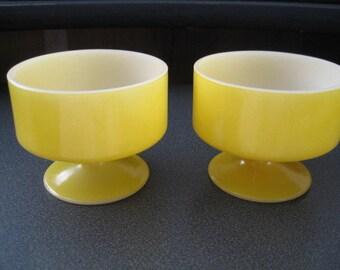 Vintage Ice Cream/Cobbler/Custard/Fruit/Cups - Set of Two