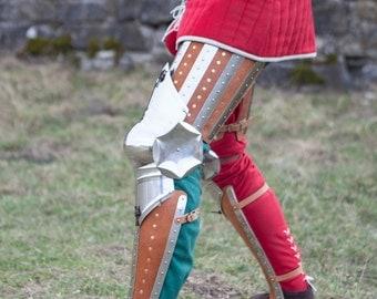 "20% DISCOUNT! Medieval Leg Armor ""Hound of War"" sca; men's armour"