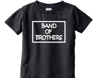 Band of Brothers Boys T-Shirt Tee Youth Childs Infant Toddler Size Boy Mom Shirt