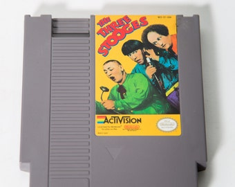 NES Cartridge Three Stooges Video Game Nintendo Activision Tested and Working