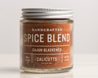 Cajun Blackened - Handcrafted Spice Blend - 2.3 ounces in Glass Jar, All-Natural and Gluten Free