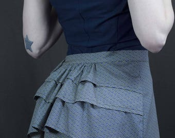 1900 in Midnight Blue Japanese fabric skirt