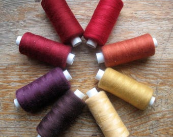 Sewing Thread Red Burgundy 1000 yards Polyester Sewing Overlock Serger Cone Thread