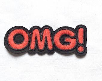 New OMG Iron-On Appliqué Patch Motif DIY