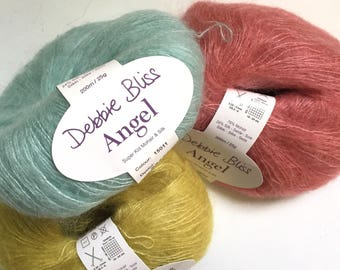 40% Off Debbie Bliss Angel Mohair Silk Lace Yarn 220 Yards