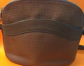COURREGES VINTAGE BAG brown 90's crossbody bag