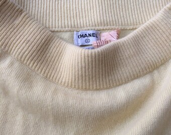 CHANEL VINTAGE SKIRT, sweet yellow cashmeere